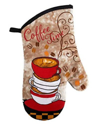 Home Collection Kitchen Oven Mitt Coffee Time