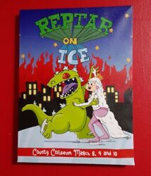 Rugrats Reptar On Ice Nickelodeon Canvas Wall Art Poster