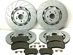 Mercedes S63 And S65 Amg Front And Rear Brake Pads And Rotors Set - Best Quality