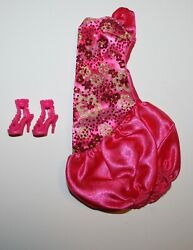 Barbie Doll Pink Evening Dress amp; Shoes $7.99