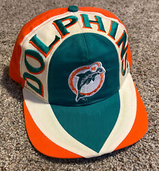 Vintage 90's Nfl Miami Dolphins Afc Snapback Hat Cap One Size Fits All