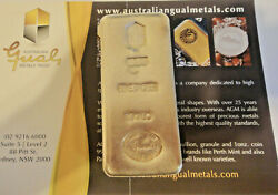 Gual Metals Trust1 Kg. Ag. Very Rare Collectable Poured Fine Silver Pillow Bar