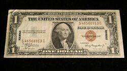 1935-a 1.00 Dollar Hawaii Silver Certificate Paper Note Vf-xf