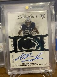 Miles Sanders 2019 Flawless Collegiate 1/1 Eagles Penn State Lion Head Patch