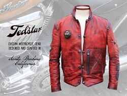 Leather Jacket Vintage Style Motorcycle Made-to-order.