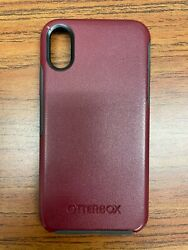 Otterbox Symmetry Series Case Iphone Xs And Iphone X - Burgundy/red Pre-owned