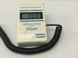 Teledyne Analytical Ted 60t Oxygen Analyser Digital Lcd Missing Battery Cover