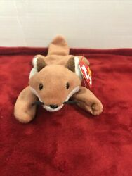 Ty Beanie Baby Sly The Fox 1996 Rare Retired With Errors
