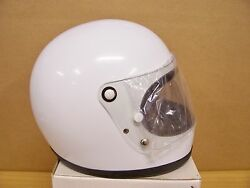 4 Vintage Nos Shoei S12 S 12 Motorcycle Full Face White Helmets Size Large