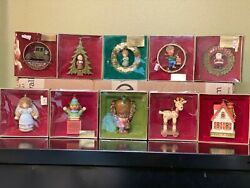 Vintage Hallmark Christmas Ornaments Tree-trimmer Collection 1976 And 1977