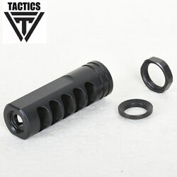 .223 Muzzle Brake Qpq Stainless 1/2x28tpi For 5.56mm Compensator W/ Nut+washer