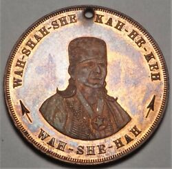 1911 Edward Knox Elder Chief Wah-she-ha Bacon Rind Medal 38.3mm Only 15 Minted