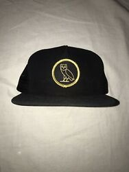 Ovo Owl Embroidered Snapback Hat 2015 Black Gold Drake October's Very Own