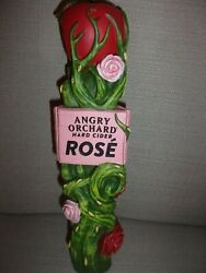 """Rare Angry Orchard Rose Hard Cider Beer Tap Handle 11"""" Tall"""