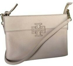 Tory Burch Stacked T Leather Suede Crossbody Blush $55.00