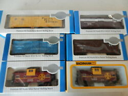 Ho Bachmann 6 Freight Stock Box Cars Cabooses New