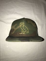 Ovo Owl Camo Embroidered Snapback Hat 2015 Canada Usa Flag Octobers Very Own