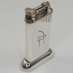 Dunhill Beautiful Table Lighter - Silver Plated - England Art Deco 1930ies