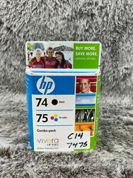 Hp Ink 74 Black 75 Tri Color Combo Nib Expired See Pictures