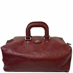 Soft Backpack Calfskin Leather Duffle Bag Red 587866