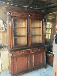 Fine 1865 Rosewood French Victorian 2 Part Step Back Cupboard 7ft Outstanding
