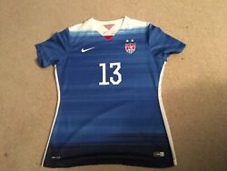 Nike Dri-fit Us Women's Soccer World Cup Alex Morgan Jersey Size Large + Gifts