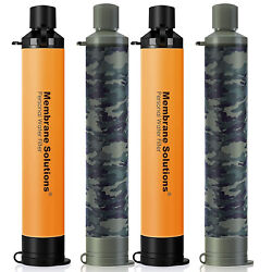 3 Pack Personal Survival Water Filter Straw Purifier Hiking Camping Emergency