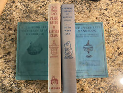 4 Ruth Webb Lee Glass Books - Early American Pressed Glass Patterns, Victorian