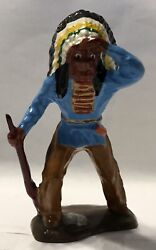 All-nu Indian With Rifle Lead Soldier Made In Usa Barclay Manoil