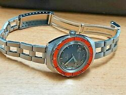 Rare Nos 1969 Ladies Zenith A3630 Subsea Diverand039s 32mm Automatic Watch  7291