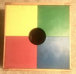 Vintage Wooden Table Toys Standard Lego Table W/center Netting Storage