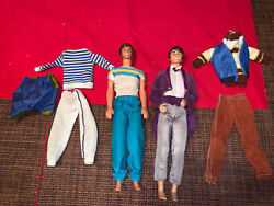 Vintage 1980s Barbie Ken And Todd Dolls With Two Sets Of Outfits