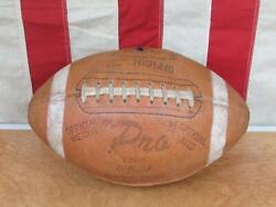 Vintage 1960s Pro Official Leather Football Laces 1360 Model Great Display Ball