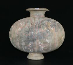 A Genuine Authentic Chinese Han Dynasty Painted Pottery Cocoon Jar 999