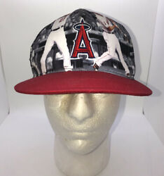 Mlb Los Angeles Angels Mike Trout Baseball Cap Hat State Farm Sixth Man Adult