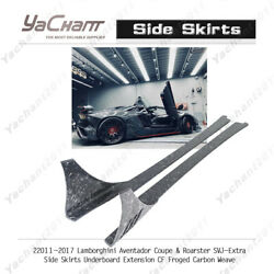 Forged Cf For 11-17 Lamborghini Aventador Coupeandroarster Svj-extra Side Skirts