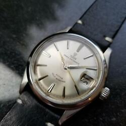 Mens Tudor Oysterdate 7966 Small Rose 34mm Automatic C.1950s Swiss Ms119