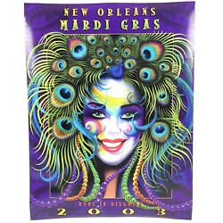 Rare New Orleans Mardi Gras Eyes In Disguise March 2003 Poster Andrea Mistretta