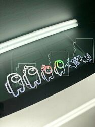 Among Us Family Decals Back Window Truck Car SUV Stickers Mix and Customize