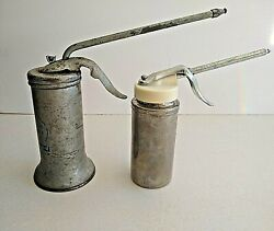 Lot Of 2 Vintage Oil Cans, Metal Oilers, Collectible Oil Cans, Eagle
