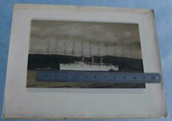 Canadian Pacific Line Rms Empress Of Britain Trials Magnificent Photo 1 16x12