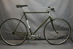 1973 Raleigh Super Record Vintage Single Speed Bike 60cm Large Ss Steel Charity