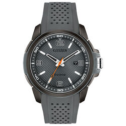 Citizen Eco-drive Naismith Menand039s Ion Plated Charcoal Grey 45mm Watch Aw1157-08h