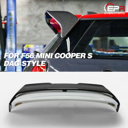 Carbon + Frp Dag Style Rear Trunk Roof Spoiler Wing Kits For Mini Cooper S F56