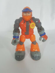 Fisher Price Rescue Heroes Bob Sled Snowmobile Driver Action Figure Orange