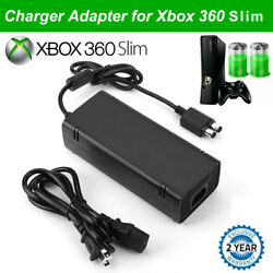 For Xbox 360 Slim Console Power Supply Brick Ac Adapter Charger With Power Cord