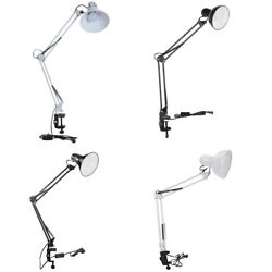 Xmas Gift Long Arm Desk Lamp Manicure Reading Adjustable Clip-on Led Table Light
