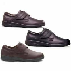 Padders Air Mens Casual Cushioned Leather F Fit Comfort Touch Fasten Shoes