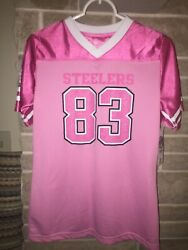 Pittsburgh Steelers Nfl 83 Miller Pink Jersey Size Girls Size Xl New