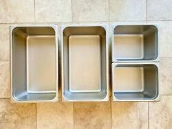 Restaurant/commercial Choice Stainless Steel Food Prep/serving/catering Pans Lot